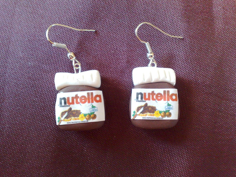 Collier nutella fimo