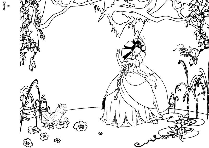 Coloriage la princesse et la grenouille - Coloriages princesse ...