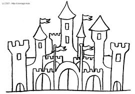 Coloiage Chateau De Princesses Et Princesses Disney