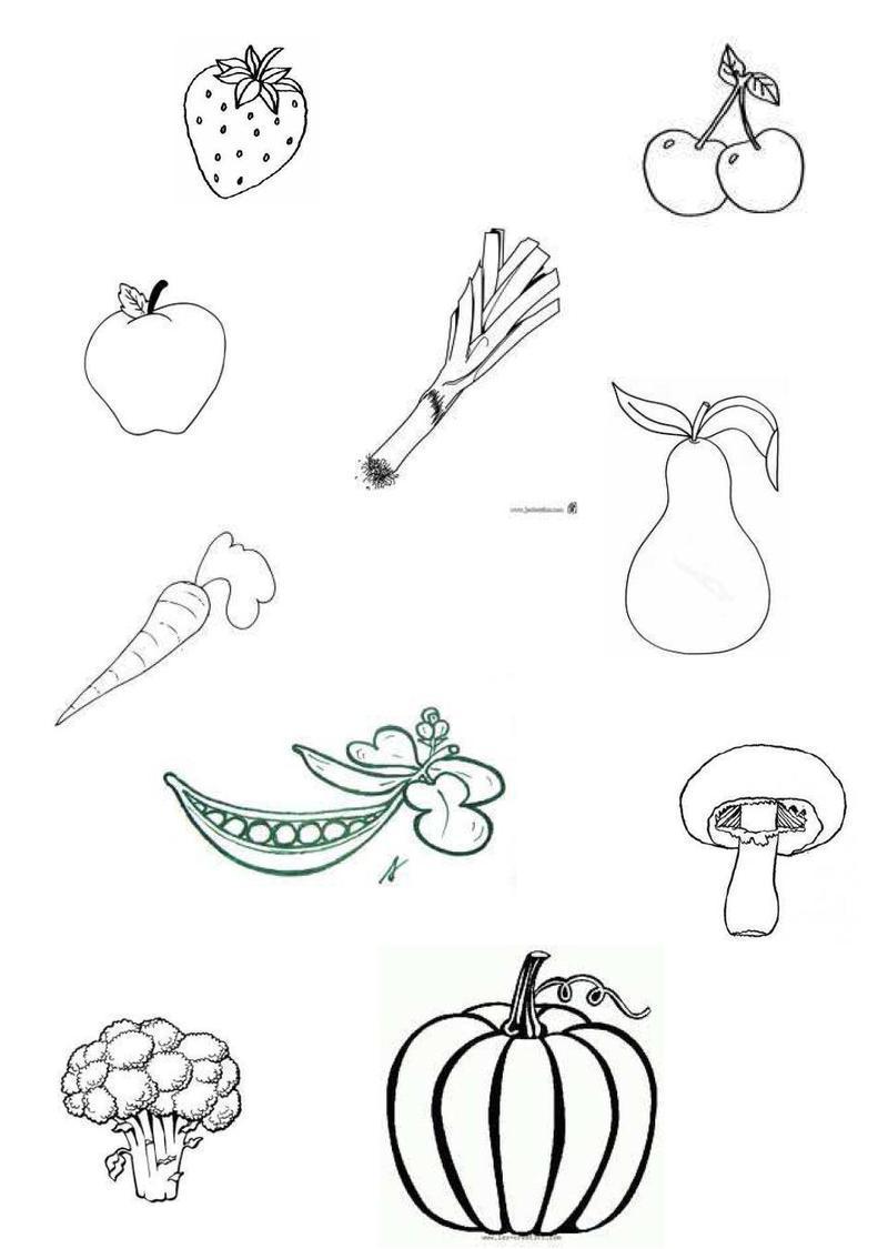 Comment dessiner des legumes - Fruits coloriage ...