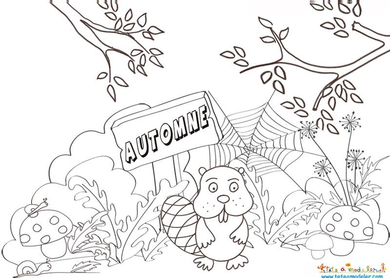 Les petits artistes en couche culotte page 13 - Coloriage paysage automne ...