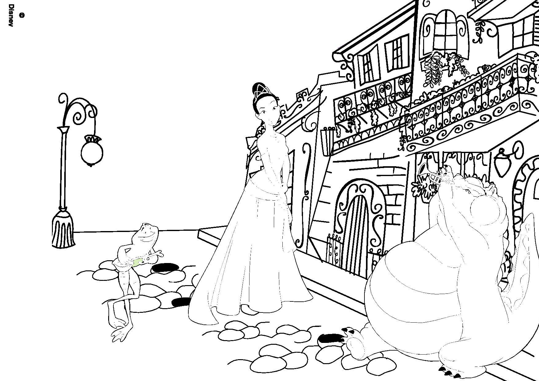 Coloriage la princesse et la grenouille - Coloriage la princesse et la grenouille ...