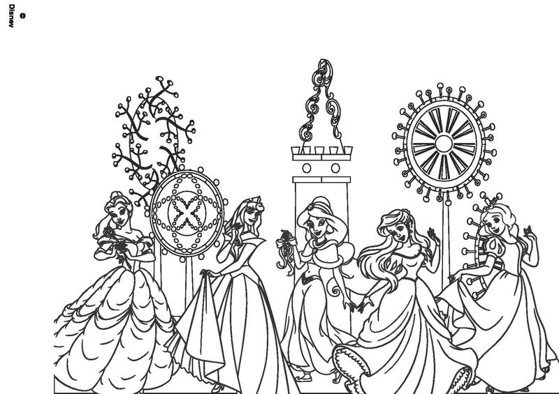Coloiage ch teau de princesses et princesses disney - Coloriage en ligne princesse ...